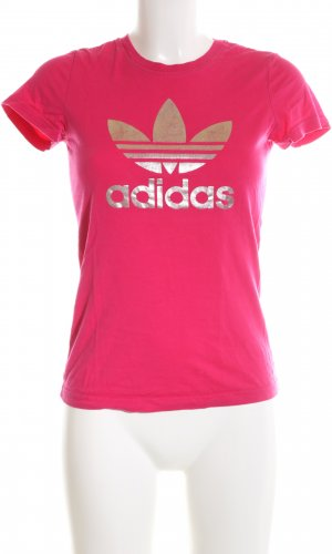Adidas T-Shirt pink Motivdruck Casual-Look