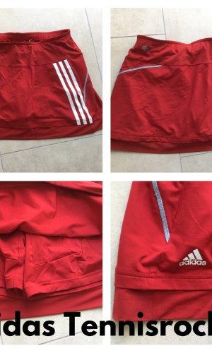 Adidas Broekrok wit-rood Lycra