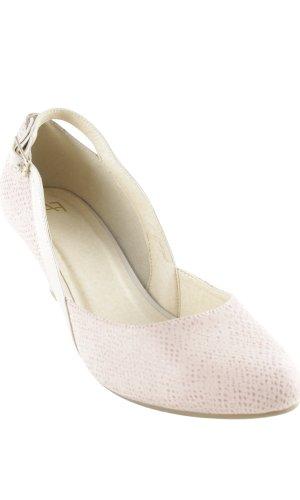 AF Escarpin à bride arrière rose clair-crème élégant