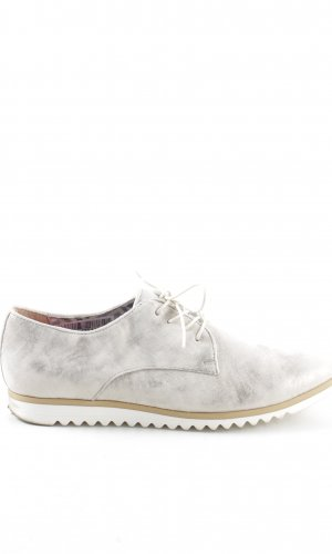 Andrea Sabatini Zapatos estilo Richelieu blanco-gris claro look casual