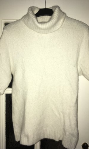 Hennes Collection by H&M Sweater met korte mouwen wolwit Angorawol