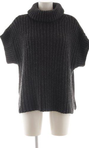 Ania Schierholt Sweater met korte mouwen zwart kabel steek casual uitstraling