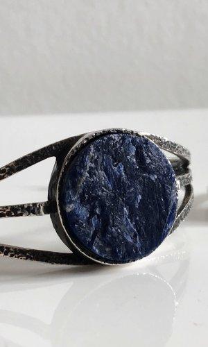 Antik Lapislazuli Schmuckset 835 Silber Armband Armreif & 835 Ring SILBER Armreif und Ring als Set