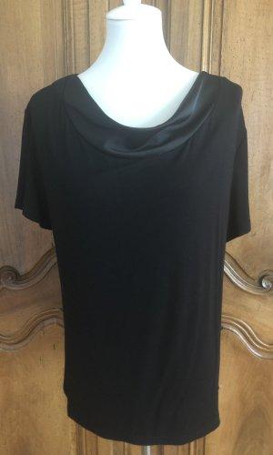 Taifun Waterval shirt zwart Katoen