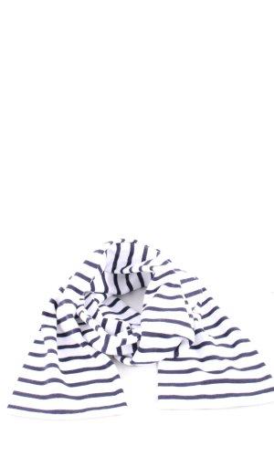 Armor Lux Strickschal weiß-blau Streifenmuster Casual-Look