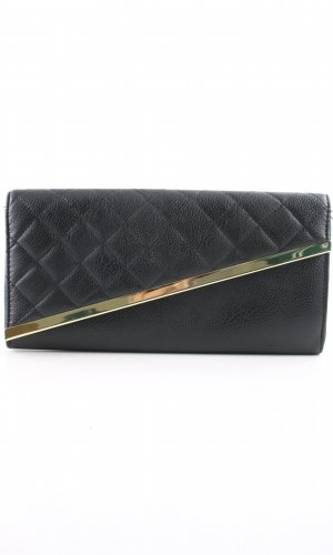 Asos Clutch black quilting pattern business style