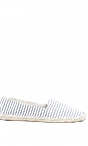 Asos Moccasins blue-white striped pattern casual look