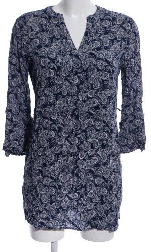 Atmosphere Lange blouse zwart-wit abstract patroon zakelijke stijl