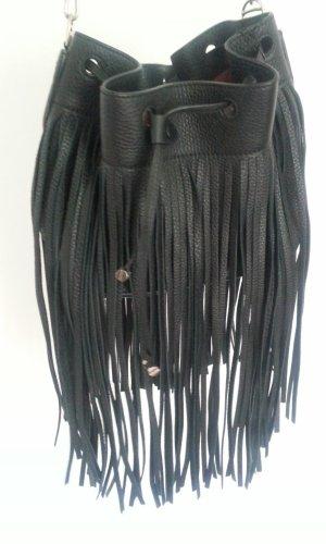Bally Fringed Bag black