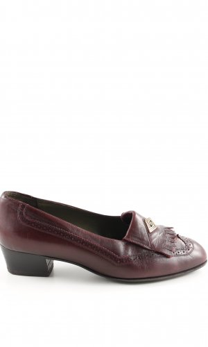 Bally Moccasins red business style