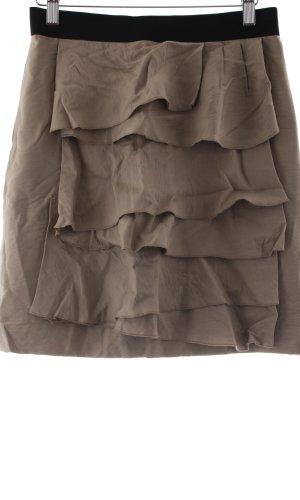 BCBG Maxazria Volanten rok beige casual uitstraling