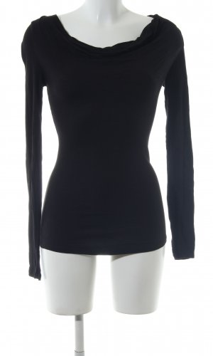 BCBG Maxazria Waterval shirt zwart zakelijke stijl