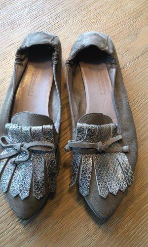 Kennel + schmenger Zapatos sin cordones marrón grisáceo-color plata