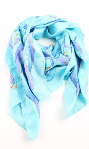 Belmondo Halstuch türkis-blau abstraktes Muster Casual-Look