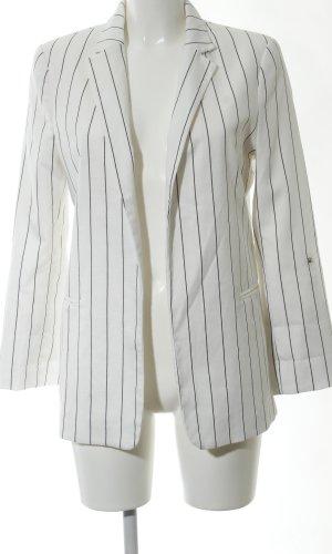 Bershka Jerseyblazer weiß-schwarz Streifenmuster Business-Look