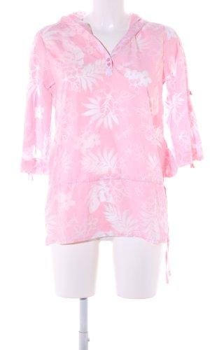 Billabong Lange blouse roze-wolwit bloemenprint casual uitstraling