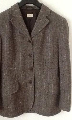 Sisley Wollen blazer grijs-bruin-lichtbruin