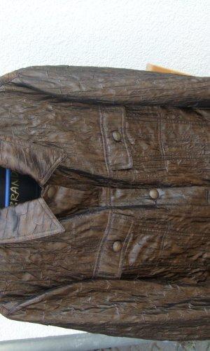 Blazer  von Brand Große Größe 46 Braun in Leder-Crash Optik