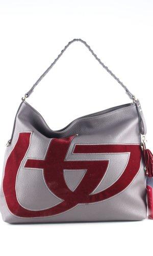Shoulder Bag light grey-red casual look