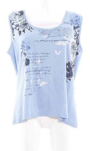 Blue Seven Tuniek blauw bloemenprint casual uitstraling