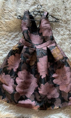 Robe ballon violet-brun sable