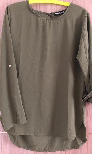 Lange blouse khaki