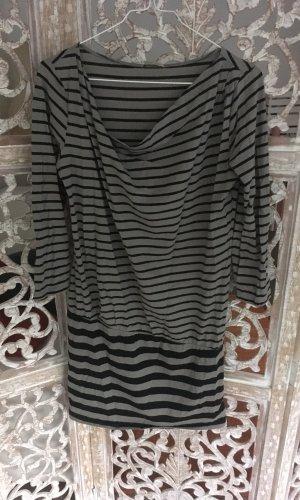 Intimissimi Lange blouse lichtgrijs-zwart Katoen