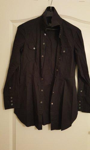 Bluse schwarz mit Druckknöpfen