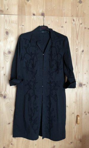 Bluse schwarz mit Stickereien 38