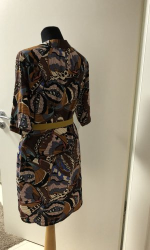 Robe chemise violet-marron clair