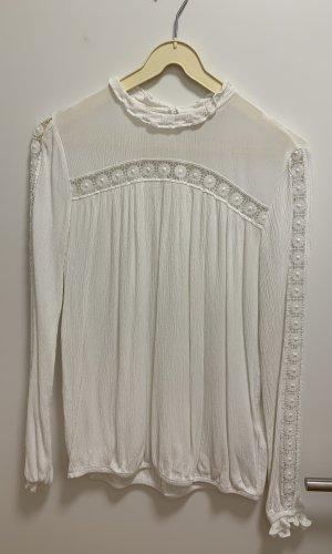 H&M Gehaakt shirt wit-licht beige