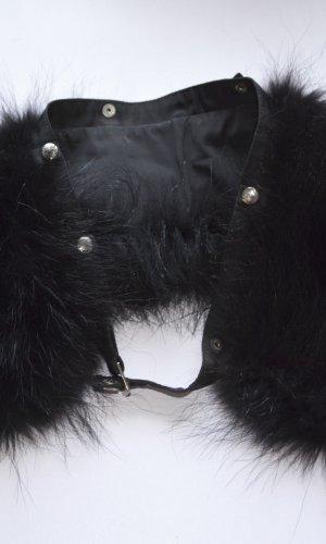Bogner Écharpe à capuche noir fourrure