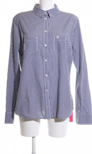 Bogner Fire + Ice Long Sleeve Shirt blue-white check pattern casual look