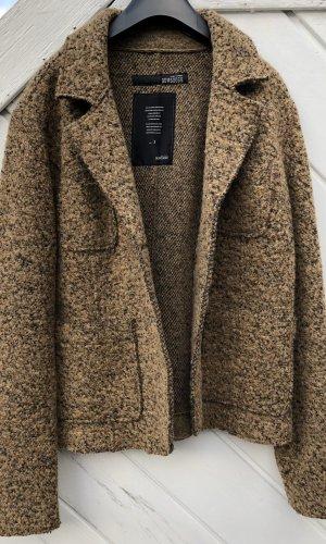 Bomboogie Wollen blazer grijs-bruin