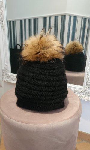 Loevenich Chapeau en fourrure noir-brun sable