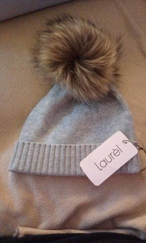 Laurèl Chapeau en fourrure gris