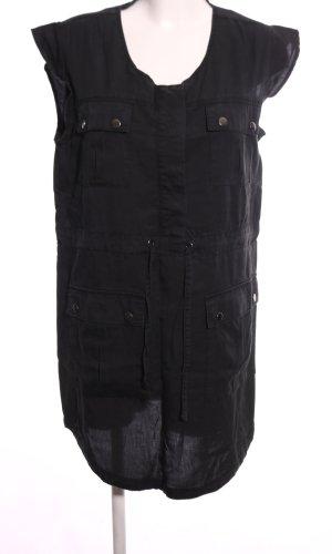 Bonaparte Robe chemise noir style décontracté