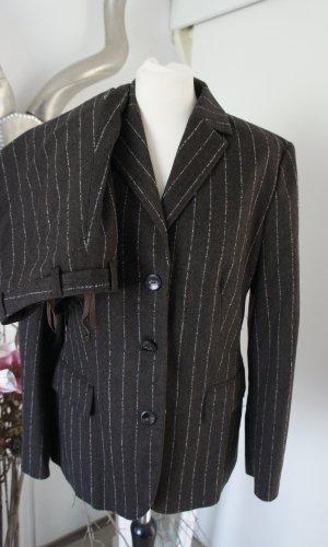 BRIGITTE VON BOCH Anzug Größe 40 Hose Blazer Winter Wolle