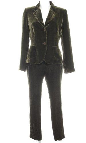 Brigitte von Boch Traje de pantalón verde oscuro estilo extravagante