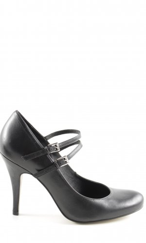 Buffalo London Escarpins Mary Jane noir style d'affaires
