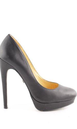 Buffalo London Plateauzool pumps zwart zakelijke stijl
