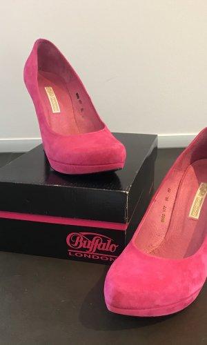 Buffalo London Plateauzool pumps roze