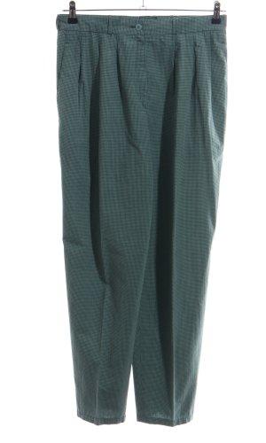 Bundfaltenhose khaki-anthrazit Karomuster extravaganter Stil