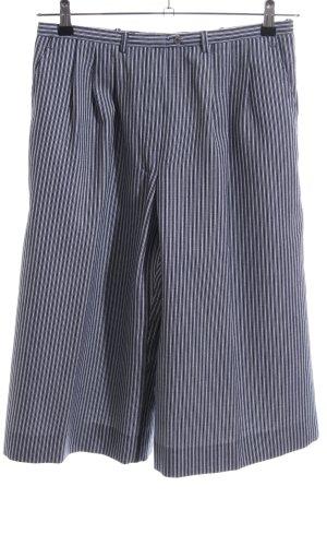 Bundfaltenhose weiß-dunkelblau Streifenmuster klassischer Stil