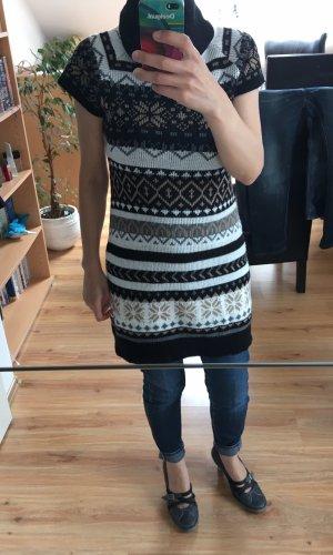 Sweater met korte mouwen zwart-zwart bruin