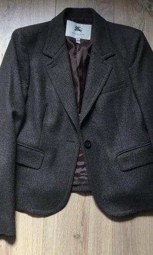 Burberry Wollen blazer donkerbruin