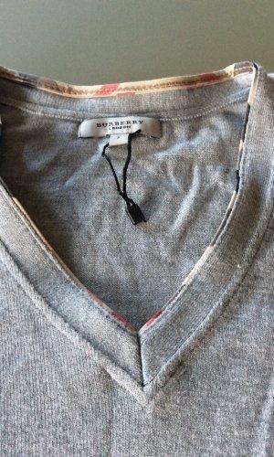 Burberry Pulli mit V-Ausschnitt in grau, Gr. S