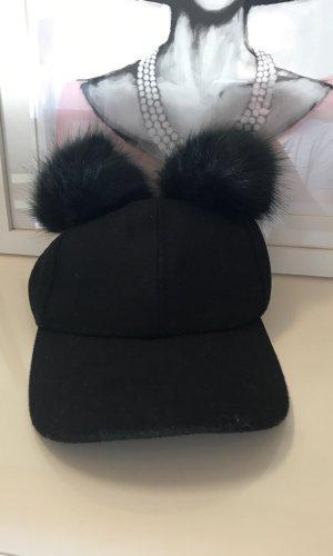 Miss Selfridge Chapeau en fourrure noir
