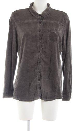 Cecil Long Sleeve Shirt light grey flecked casual look