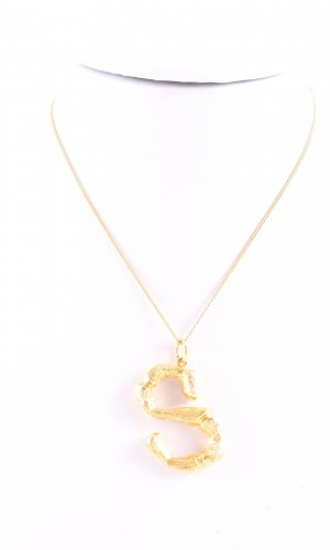 Celine Necklace gold-colored glittery